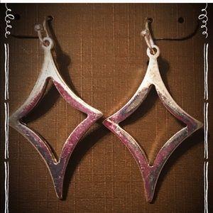 Silver fashion point earrings